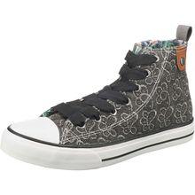 Fritzi aus Preußen Hedi Toe Cap Sneaker All Over Emroidery Sneakers High schwarz-kombi Damen