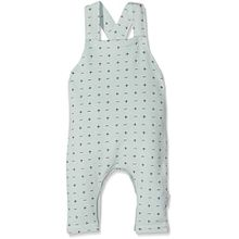 Noppies Unisex Baby Latzhose U Dungaree Sweat Greenburgh, Grün (Grey Mint C175), 50