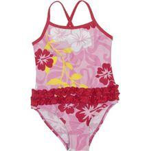 Playshoes Mädchen Badeanzug 460173 Badeanzug Hawaii, UV-Schutz nach Standard 801 und Oeko-Tex Standard 100, Gr. 134/140, Mehrfarbig (Original)