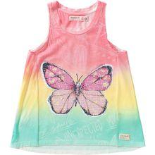 Desigual Top 'Schmetterling' gelb / mint / pink