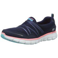 Skechers SynergyScene Stealer, Damen Sneakers, Blau (NVPK), 38 EU