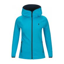 Peak Performance - Chill Zip Damen Fleecehoodiejacke (blau) - XS