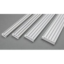 ROLLMAYER glänzend Weiß Gardinenschiene ALU 2, 3, 4, 5-läufig Deckenbefestigung (2-läufig, 520cm - mit Faltenlegehaken) Aluminium Vorhangschiene für Schiebevorhang / Flächenvorhang mit Paneelwagen, Vorhang, Gardinen