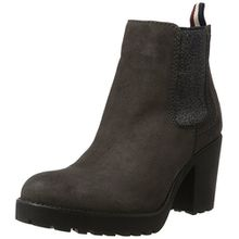 Hilfiger Denim Damen B1385OO 1B Chelsea Boots, Grau (Steel Grey), 41 EU