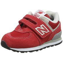 New Balance Unisex-Kinder Iv574v1 Sneaker, Rot (Red/Grey), 27.5 EU