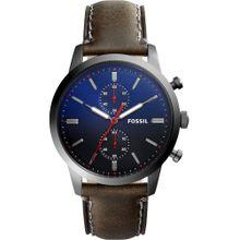 FOSSIL Uhren dunkelblau / schoko / silbergrau