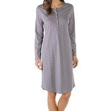 Mey Damen Nachthemd langarm 11084, shale, 38