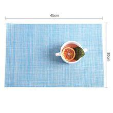 DSZQ 4 x Tischsets * PVC 45 * 30 cm, Hellblau kaufen 4 erhalten 1 gratis