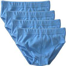HERMKO 2850 4er Pack Jungen Slip einfarbig aus 100% Bio-Baumwolle mit Dehnbund, Farbe:hellblau, Größe:140