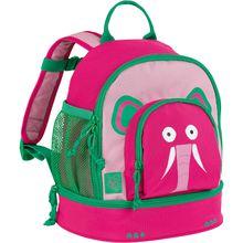 Lässig Kindergarten-Rucksack 4Kids, Mini Backpack, Wildlife Elephant pink Mädchen