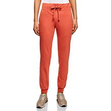 oodji Ultra Damen Jersey-Hose im Sport-Stil, Orange, DE 32/EU 34/XXS