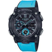CASIO G-Shock 'GA-2000-1A2ER' neonblau / schwarz