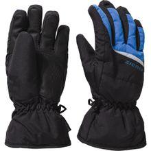 ZIENER Skihandschuhe 'LIPO' blau / schwarz / weiß