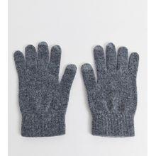 Glen Lossie – Graue Touchscreen-Handschuhe aus Lammwolle