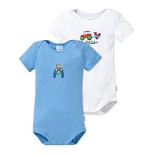 Schiesser Baby - Jungen Body 2 Baby Bodies 1/2, 2er Pack, Gr. 80, Mehrfarbig (sortiert 1 901)