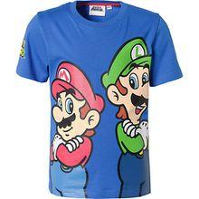Super Mario T-Shirt  blau Jungen Kinder