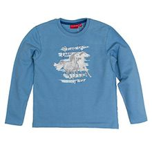 SALT AND PEPPER Mädchen Sweatshirt Sweat Horses Photo Strass, Blau (Blue Melange 418), 128