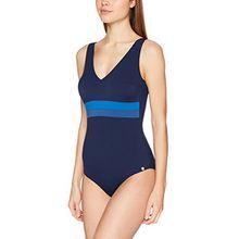 Schiesser Damen Badeanzug, Blau (Navy 815), 44 (Herstellergröße: 044C)