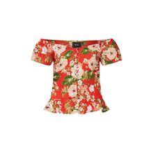 OBJECT Bluse 3/4-Arm-Blusen rot Damen