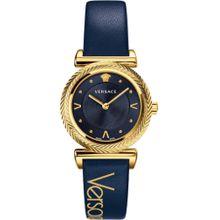 VERSACE Schweizer Uhr 'V-MOTIF, VERE00218' navy / gold