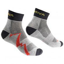 La Sportiva - Short Distance Socks - Laufsocken Gr S blau/grau;schwarz/grau;schwarz