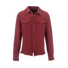 tigha Herren Hemden Marcos rot (brick red melange)
