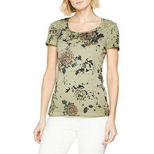 TAIFUN Damen T-Shirt 1/2 Arm, Mehrfarbig (Silver Sage Druck 5002), 38