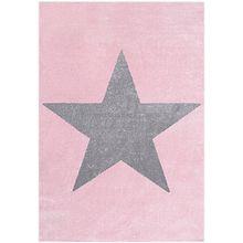 Kinderteppich, STAR rosa/silbergrau, 100 x 160 cm