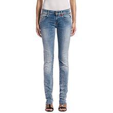 Replay Damen Hyperflex Straight Leg Jeans Vicki, Gr. W28/L32 (Herstellergröße: 28), Blau (Blue Denim 10)