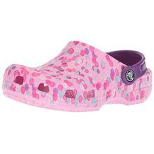 crocs Classic Graphic Clog Kids, Unisex - Kinder Clogs, Pink (Carnation), 33/34 EU