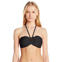 Seafolly Damen Shimmer DD U Tube Bikinioberteile,per pack Schwarz (Black),44 (Herstellergröße:18)