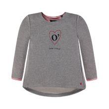 Marc O'Polo Junior Sweatshirt mit Logo für Mädchen graumeliert