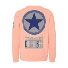 CHIEMSEE Unisex Sweatshirt mit großem  Logo neonorange