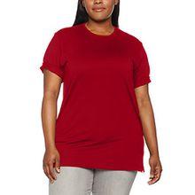 Ulla Popken Große Größen Damen T-Shirt, Rundhals Rot (Rot 51), 58 (Herstellergröße: 58+)