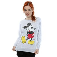 Disney Damen Mickey Mouse Classic Kick Sweatshirt Large Heather Grey