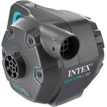 Intex elektrische Pumpe mit 3 Verbindungs-Düsen und Überhitzungs-Schutz, Pumpleistung 1100 l/h schwarz