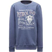 Petrol Industries Sweater taubenblau / altrosa / weiß