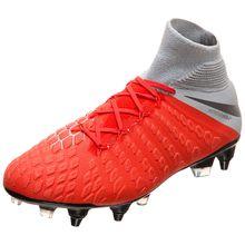 Nike Performance Nike Hypervenom Phantom III Elite DF SG-Pro AC Fußballschuh  Fußballschuhe grau/rot Herren