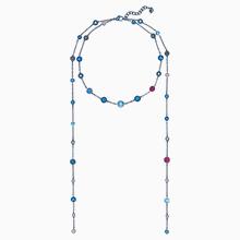 Model Matinée-Kette, mehrfarbig, Blaues PVD-Finish