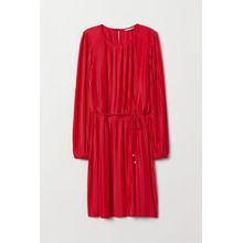 H & M - Plissiertes Kleid - Red - Damen