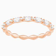 Vittore Marquise Ring, weiss, Rosé vergoldet