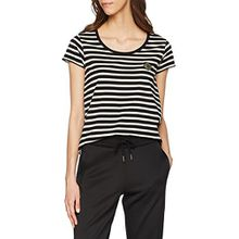 Scotch & Soda Maison Damen T-Shirt S/s Tee in Various Stripes_138543, Mehrfarbig (Combo B 18), Large