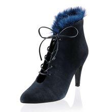 Alba Moda Schnürstiefeletten dunkelblau Damen