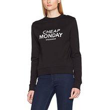 Cheap Monday Damen Sweatshirt Win Sweat Doodle Logo, Schwarz, 40