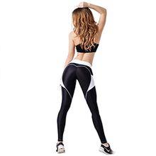 Damen Yoga Leggings Hose , Yogogo Pants | Dünne Hosen | Mesh Muster Print Fitness Leggings | Sport Workout Leggins | Elastische Dünne Hosen | Trainieren | Atmungsaktive | Sporthose (Schwarz 3, XL)