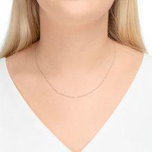 Halskette Pure Quintruple Diamant, 18K Weißgold