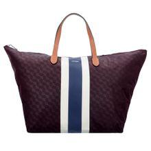 JOOP! Shopper 'Piccolina Helena' blau / burgunder / weiß