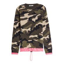 Valentino Camouflage-Pullover aus Schurwolle