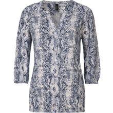 Soyaconcept Blusenshirt blau/weiß Damen