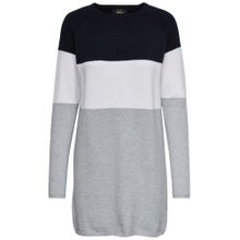 ONLY Kleid 'onlLILY L/S DRESS KNT NOOS' nachtblau / weiß